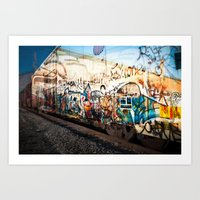 grafitti Art Prints featuring Grafitti Train by Squint Photography