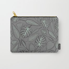 Monstera cyan leaves Carry-All Pouch
