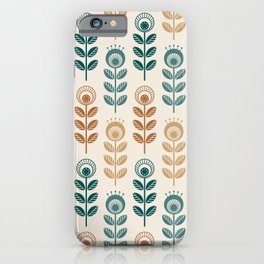 SCANDI GARDEN 01-10, nature colors on ivory iPhone Case