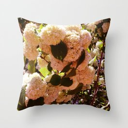 Yellow-Pink Sowballs Throw Pillow