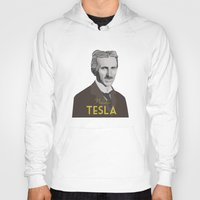 tesla Hoodies featuring Tesla by DariyCraft