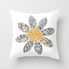 Mosaic Flower 002 Throw Pillow