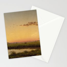 Haystacks On The Newburyport Marshes 1862 By Martin Johnson Heade | Reproduction Stationery Cards