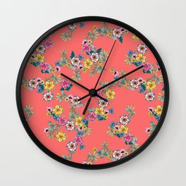 Havana Floral Wall Clock