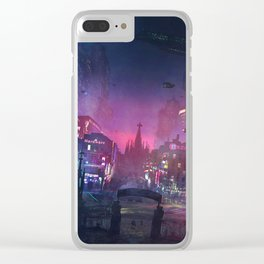 Barcelona Smoke & Neons: Sant Pau i La Sagrada Familia Clear iPhone Case