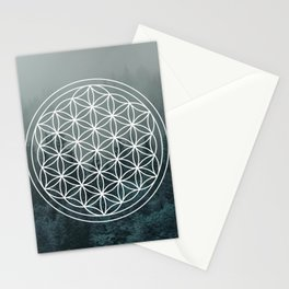 Flower of life forest Stationery Cards