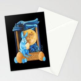 Celtic Lunar Rabbits and Hares - Easter, Ostara Stationery Cards