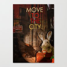 Move to the city Canvas Print
