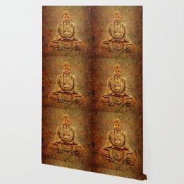 Sand Stone Sitting Buddha Wallpaper