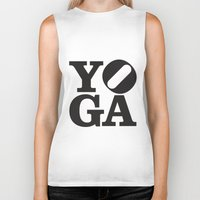yoga Biker Tanks featuring YoGA by CGould