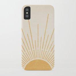 Sun #5 Yellow iPhone Case