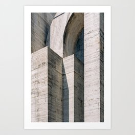Brutalism ᝢ Milano Italy travel photography art ᝢ brutalist architectural photo print Europe Art Print