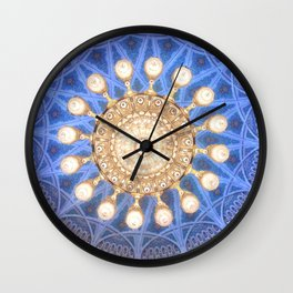 Ceiling Patterns of the Oman Grand Mosque Photography Art Print Wall Clock