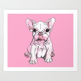 Frenchie Pup Art Print