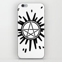 supernatural iPhone & iPod Skins featuring Supernatural  by Elisehill3