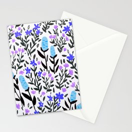 wild flowers hand draw floral pattern Stationery Cards