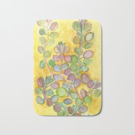 Warm and Cool, Soft Colored Succulent Bath Mat