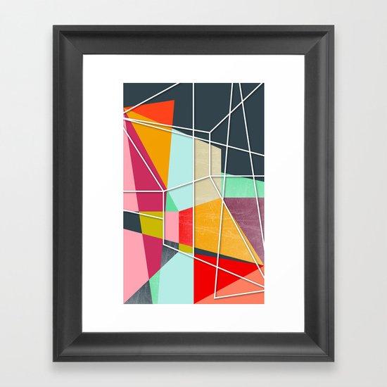 ColorBlock V Framed Art Print