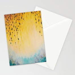 MYSTIC GARDEN Lovely Fairy Land Abstract Painting Acrylic Fine Art Winter Colorful Fantasy Magical Stationery Cards