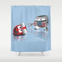 olaf Shower Curtains featuring OLAF - INCENT by dapperdesignz