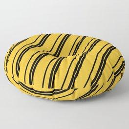 Potterverse Stripes - Hufflepuff Yellow Floor Pillow