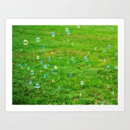 Bubbles 2 Art Print