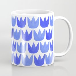 Tiptoe Tulips Blue Coffee Mug