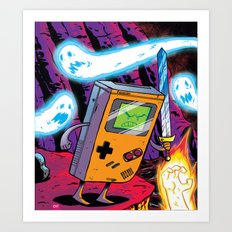 The Legend of Gameboy Art Print