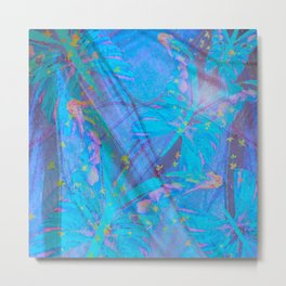 Butterflies On A Turquoise Background #decor #society6 Metal Print