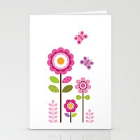 mod Stationery Cards featuring MOD GARDEN by Daisy Beatrice