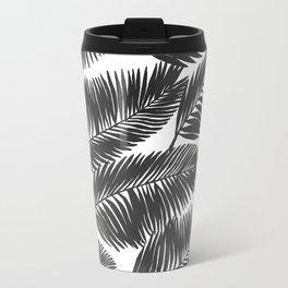 Black Ink Palm Trees Travel Mug