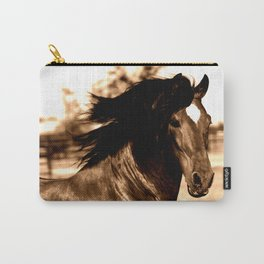 Horse print horse photography equestrian art sepia Poster Carry-All Pouch
