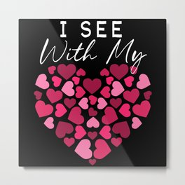 Braille Heart Visually Impaired Blind Awareness Metal Print