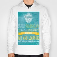 ravenclaw Hoodies featuring Wise Old Ravenclaw by MilkP