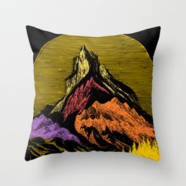 The Acid Peak of Tempests Throw Pillow