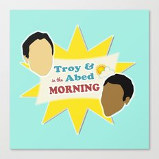 Community Troy & Abed in the Morning Canvas Print