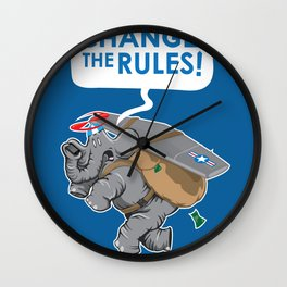 CHANGE The RULES Wall Clock