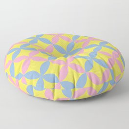 Leaf Minimal Flower Petal Pattern V15 Pantone's Color of the Year 2021 Illuminating and Accents Floor Pillow