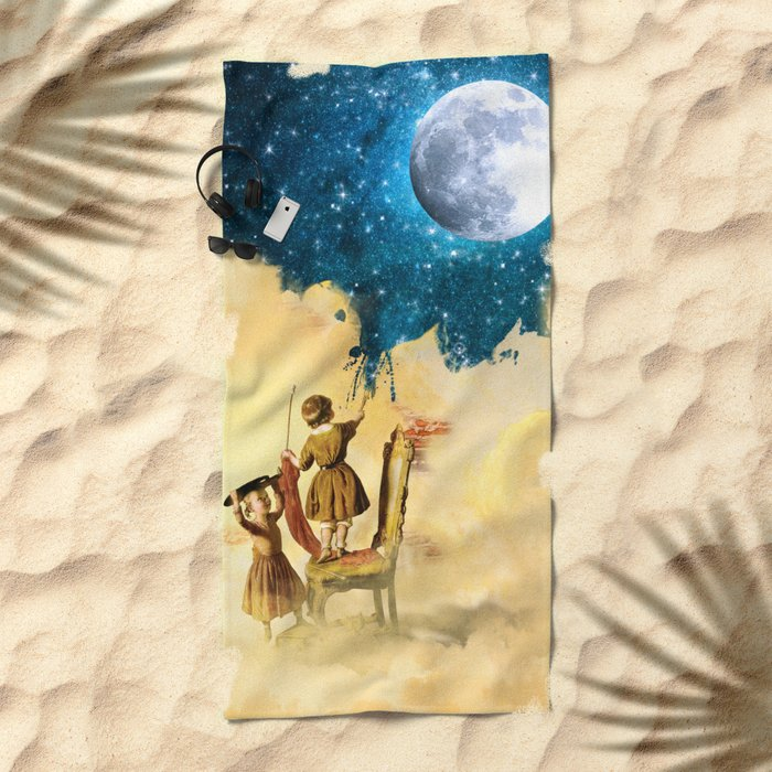 Painting Stars Beach Towel