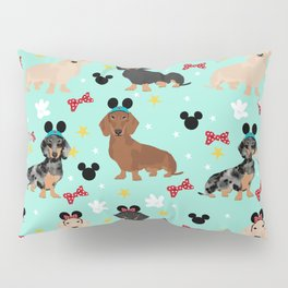 dachshund theme park vacation dogs Pillow Sham