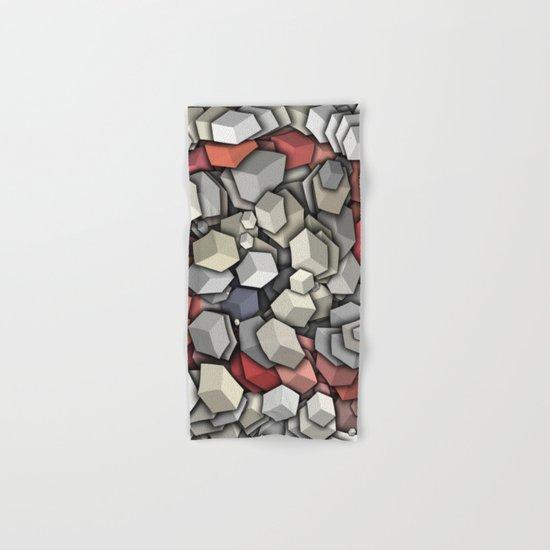 Chaotic 3D Cubes Hand & Bath Towel
