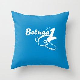 Beluga 1 Throw Pillow