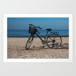 Bike on Barefoot Beach II Art Print