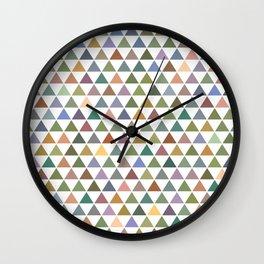 Geometric Triangles - Natural Tones Wall Clock