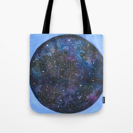 Watercolor nebula -blue Tote Bag