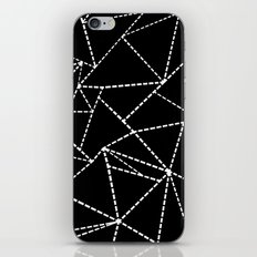 Abstract Dotted Lines White on Black iPhone Skin