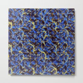The Blue and Yellow Metal Print