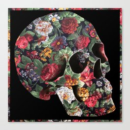 Skull and Flowers Canvas Print