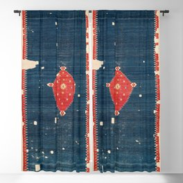 Balikesir  Antique Turkish Kilim Rug Print Blackout Curtain