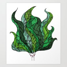 Leaf Head I Art Print
